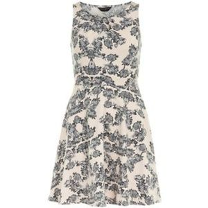 Dorothy Perkins Floral + Lace Print Pleat Dress
